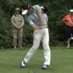 石川遼選手の飛距離アップのための右軸安定の練習方法