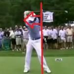 頭と左肩をボールから遠ざけるバックスイングで飛距離アップ(マキロイの形)