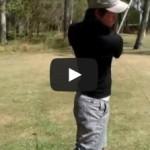 飛ばしのゴルフはダウンスイングでタメを作るために左腰のリードで引っ張ってくること